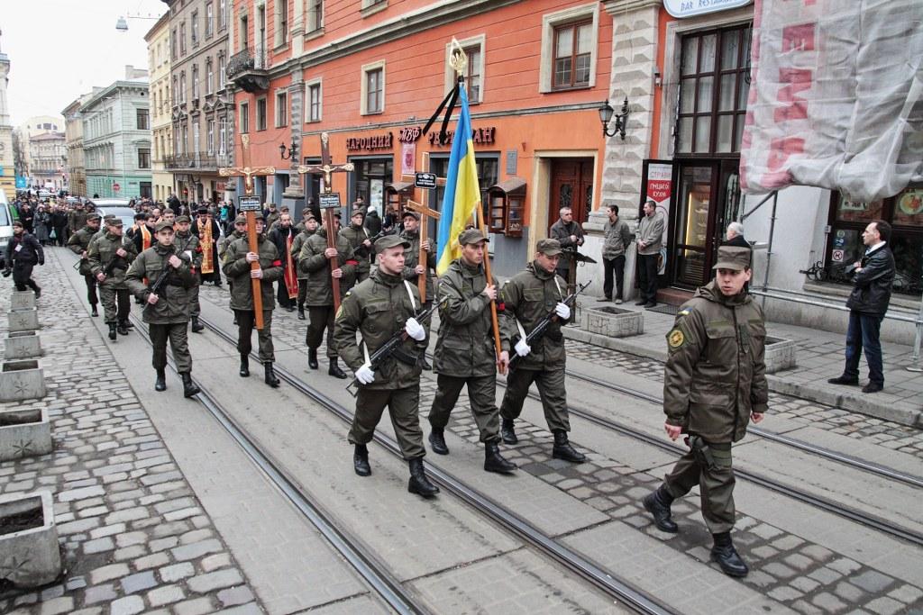У Львові провели в останню путь трьох медиків Національної гвардії